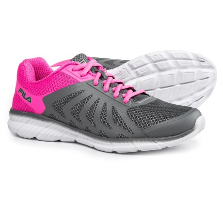 Fila Memory Faction 2 Running Shoes (For Women) in Monument/Sugar Plum/White
