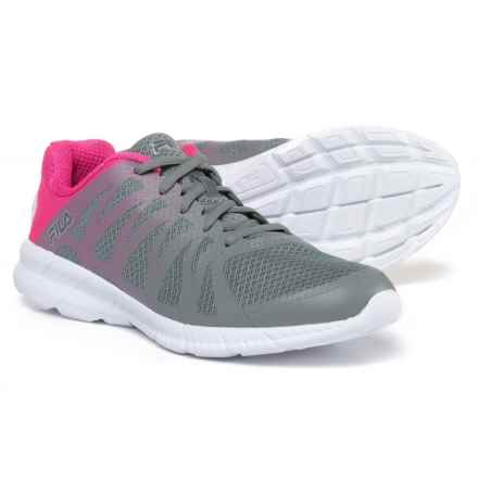 Fila Memory Finition Running Shoes (For Women) in Monument/Pink Glow/Metallic Silver - Closeouts