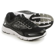 Fila Memory Maranello 4 Running Shoes (For Men) in Black/Black/Metallic Silver - Closeouts