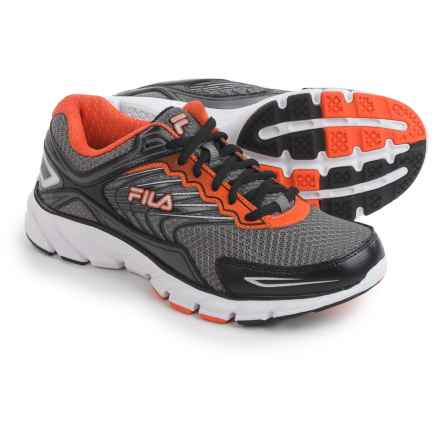 Fila Memory Maranello 4 Running Shoes (For Men) in Dark Silver/Vibrant Orange/Black - Closeouts