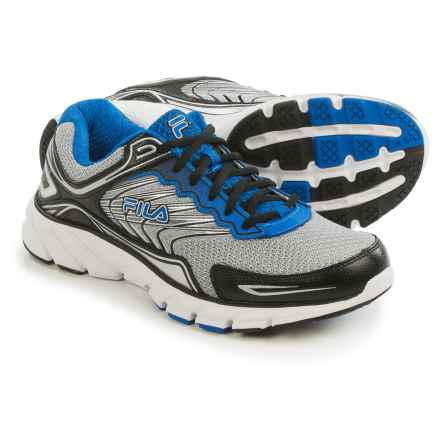 Fila Memory Maranello 4 Running Shoes (For Men) in Metallic Silver/Black/Prince Blue - Closeouts
