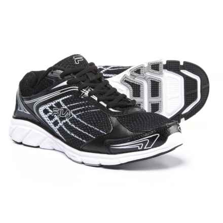 Fila Memory Narrow Escape Running Shoes (For Men) in Black/Black/Metalic Silver - Closeouts