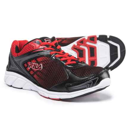 Fila Memory Narrow Escape Running Shoes (For Men) in Black/Dark Silver/Red - Closeouts