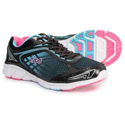 Fila Memory Narrow Escape Running Shoes (For Women) in Black/Blue Fish/Knockout Pink - Closeouts