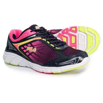 Fila Memory Narrow Escape Running Shoes (For Women) in Fila Navy/Knockout Pink/Safety Yellow - Closeouts