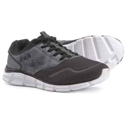 Fila Memory Primary NSO Running Shoes (For Men) in Dark Shadow/Black/Monument - Closeouts