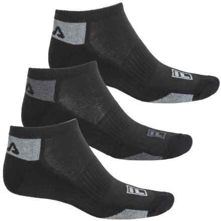 Fila Mini Stripe Socks - 3-Pack, Below the Ankle (For Men) in Black - Overstock