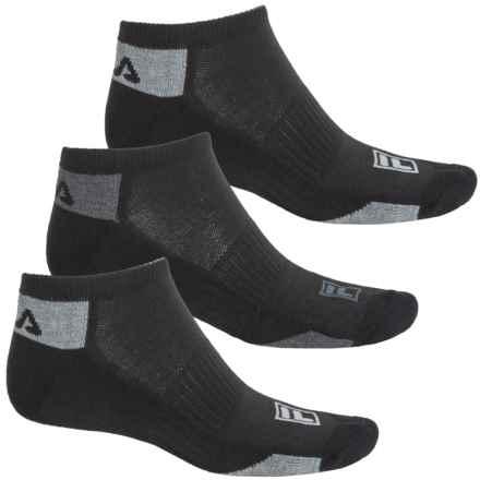 Fila Mini Stripe Socks - 3-Pack, Below the Ankle (For Men) in Black - Overstock