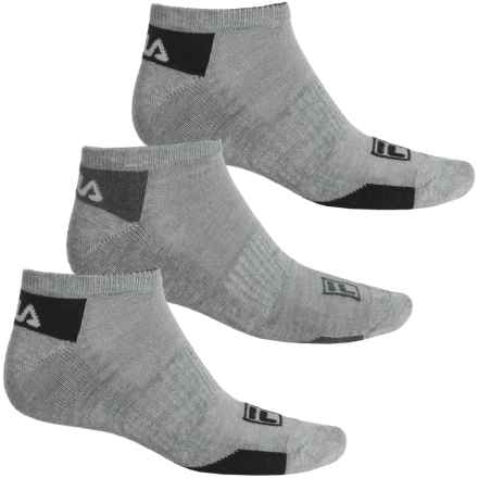 Fila Mini Stripe Socks - 3-Pack, Below the Ankle (For Men) in Light Grey - Overstock