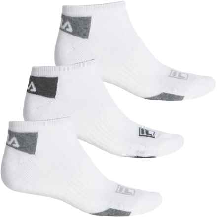 Fila Mini Stripe Socks - 3-Pack, Below the Ankle (For Men) in White - Overstock