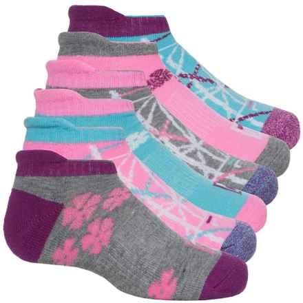 Fila No-Show Socks - 6-Pack, Below the Ankle (For Big Girls) in Aqua Mist - Closeouts
