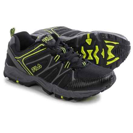 Fila Open Road 2 Trail Running Shoes (For Men) in Black/Castlerock/Safety - Closeouts