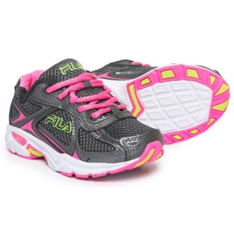 Fila Quadrix Running Shoes (For Girls) in Dark Silver/Sugar Plum