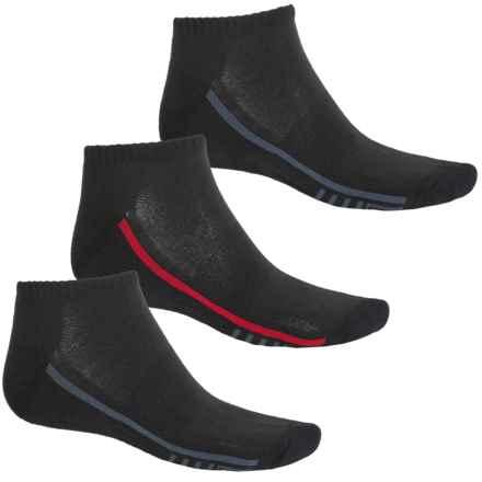 Fila Racing Stripes Socks - 3-Pack, Ankle (For Men) in Black - Overstock