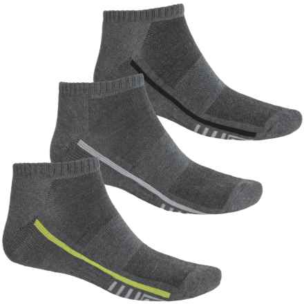Fila Racing Stripes Socks - 3-Pack, Ankle (For Men) in Charcoal - Overstock