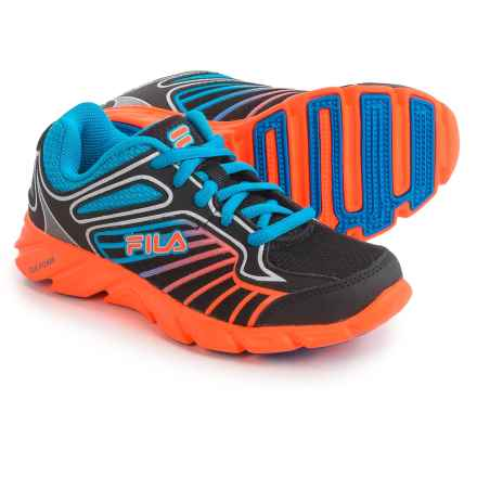 Fila Radical Lite 3 Running Shoes (For Big Kids) in Black/Orange/Blue - Closeouts