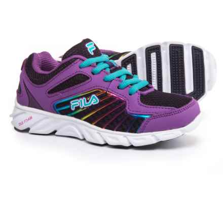 Fila Radical Lite 3 Running Shoes (For Little and Big Girls) in Mysterioso/Dewberry/Rainbow - Closeouts