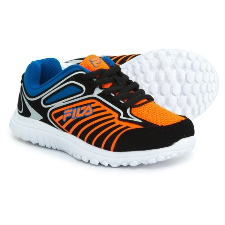 Fila Rocket Fueled Running Shoes (For Boys) in Black/Electric Blue/Shocking Orange