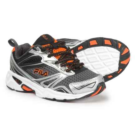 Fila Royalty Running Shoes (For Boys) in Castle Rock/Metallic Silver /Vorn - Closeouts