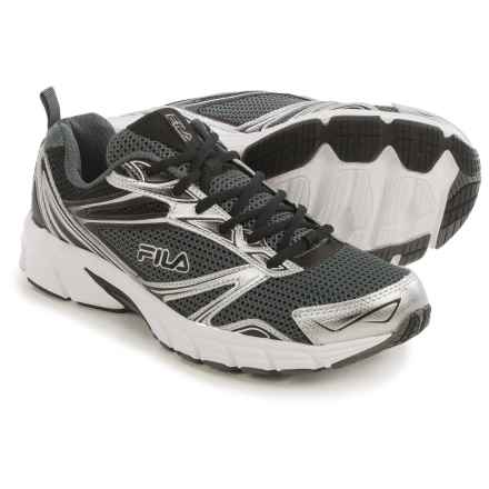 Fila Royalty Running Shoes (For Men) in Castlerock/Metallic Silver/Black - Closeouts