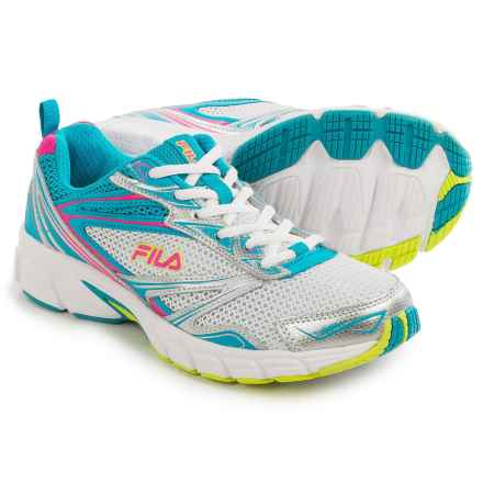 Fila Royalty Running Shoes (For Women) in Metallic Silver/Atomic Blue/Pink Glow - Closeouts