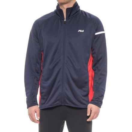 Fila Season Jacket (For Men) in Navy/ Red/White - Closeouts