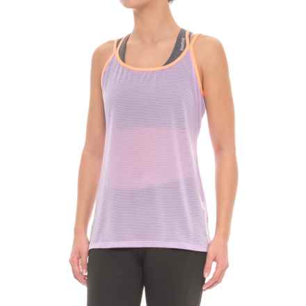 Fila Shine Strappy Tank Top - Semi Sheer (For Women) in Lavndrfd Frocrl - Closeouts