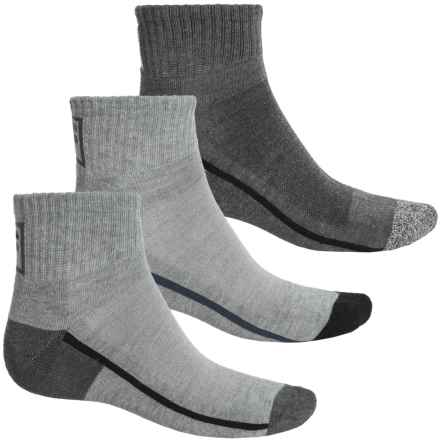 Fila Side Stripe Socks - 3-Pack, Quarter Crew (For Men) in Light Grey - Overstock