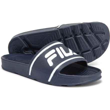Fila Sleek Slide Sandals (For Boys) in Fila Navy/Fila Navy/White