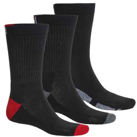 Fila Sole Block Socks - 3-Pack, Crew (For Men) in Black - Overstock