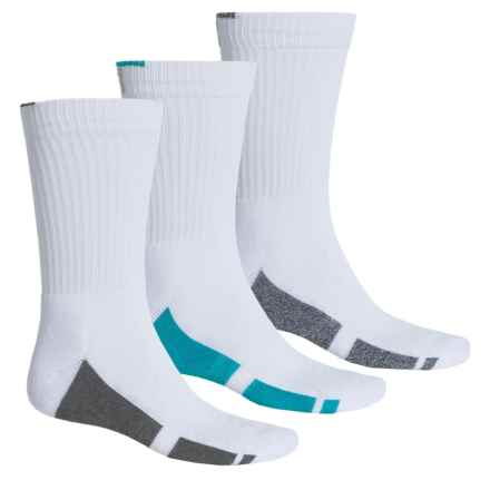 Fila Sole Block Socks - 3-Pack, Crew (For Men) in White - Overstock