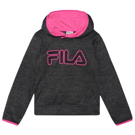Fila Space-Dyed Tech Hoodie (For Girls) in Anthracite