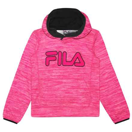 Fila Space-Dyed Tech Hoodie (For Girls) in Pink Glo - Closeouts