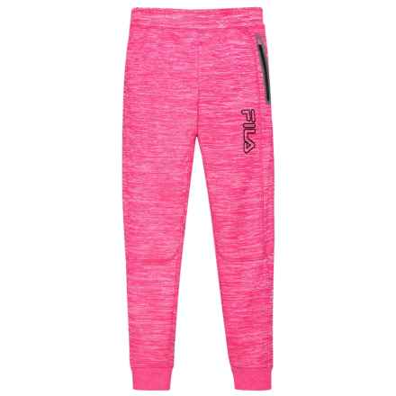 Fila Space-Dyed Tech Joggers (For Girls) in Pink Glow - Closeouts