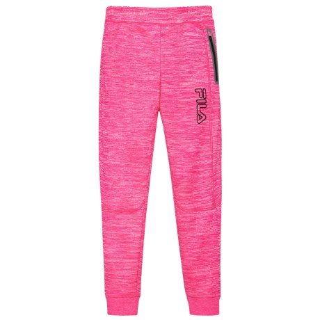 Fila Space-Dyed Tech Joggers (For Girls) in Pink Glow