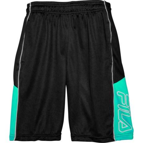 757903aee244 Fila Speed Logo Mesh Shorts (For Big Boys) in Teal/Black