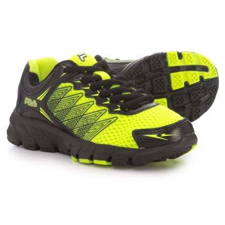 Fila Speedcross Running Shoes (For Boys) in Safety Yellow/Black/Metallic Silver