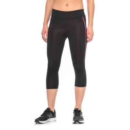 Fila Spirit Tight Capris (For Women) in Blk Pglo - Closeouts