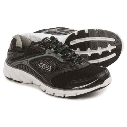 Fila Stir Up Running Shoes (For Men) in Black/Dark Silver/White - Closeouts