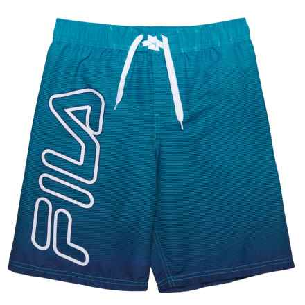 Fila Strike Board Boardshorts (For Boys) in Aqua - Closeouts