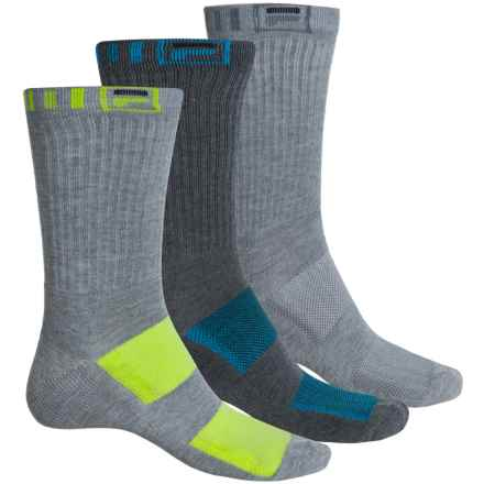 Fila Striped-Welt Socks - 3-Pack, Crew (For Men) in Multi Grey - Overstock
