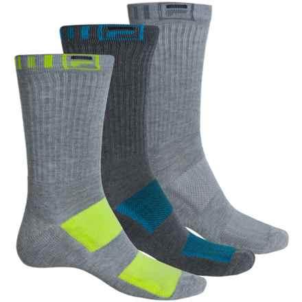 Fila Striped-Welt Socks - 3-Pack, Crew (For Men) in Multi Grey - Overstock