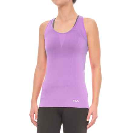 Fila Sublime Seamless Singlet - Racerback (For Women) in Lavenderfield - Closeouts