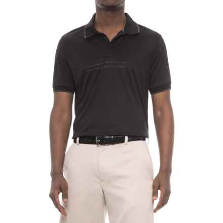 Fila Sunset Polo Shirt - Short Sleeve (For Men) in Black/ Niniron - Closeouts