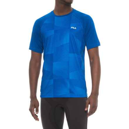 Fila Surge T-Shirt - Short Sleeve (For Men) in Royal Blue/ Black - Closeouts