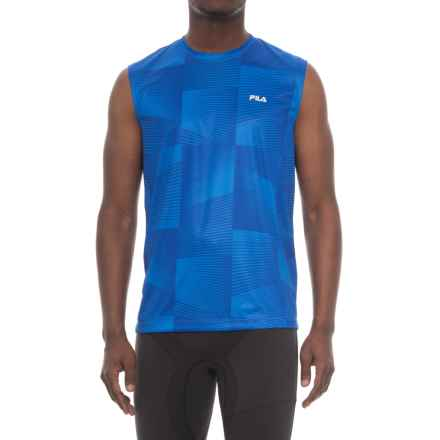 Fila Surge T-Shirt - Sleeveless (For Men) in Royal Blue/ Hirise - Closeouts