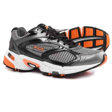 Fila Swerve 2 Running Shoes (For Men) in Dark Siver/Black/Vibrant Orange - Closeouts