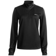 Fila Tech Top Jacket - Zip Neck (For Women) in Black/Silver - Closeouts