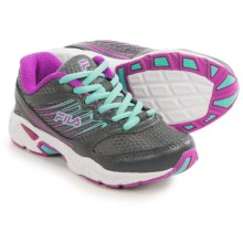 Fila Tempo 2 Running Shoes (For Little and Big Kids) in Castlerock/Purple Cactus Flower/Cockatoo - Closeouts