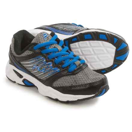 Fila Tempo 2 Running Shoes (For Little and Big Kids) in Dark Silver/Black/Prince Blue - Closeouts